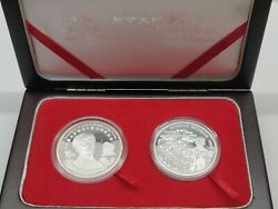 1998 Canada And China Coin Collection Dr Norman Bethune 2 Coins Fine Silver