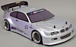 1/10 Rc Car Body Shell Bmw E46 M3 200mm Pre- Finished Silver