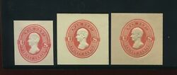 Uo67-uo69 War Dept Unused Cut Square Set Of 3 On White And Amber And Cream By 615