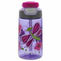 Avex Freestyle Kids Autospout Water Bottle 16oz Light Purple With Butterfly