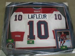 Guy Lafleur Autographed Framed Canadianand039s Jersey Puck And Photo-channel Sports