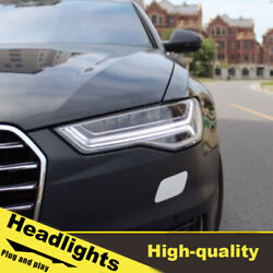12-18 Led Turn Signal Dynamic Headlights Assembly For Audi A6 One Set.