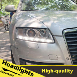 05-11 Led Turn Signal Dynamic Headlights Assembly For Audi A6 One Set.