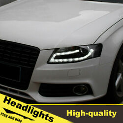 08-12 Led Turn Signal Dynamic Headlights Assembly For Audi A4 One Set.