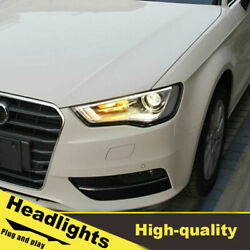 15-16 Led Turn Signal Dynamic Headlights Assembly For Audi A3 One Set.