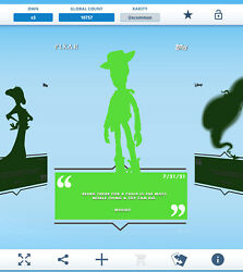 Topps Disney Collect - Daily Disney July 21 - Woody Silhouette Digital