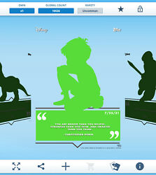 Topps Disney Collect - Daily Disney July 25 - Christopher Robin Silhouette