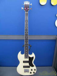 Esp J-mf-1 43985 Pointed Shape Electric Bass W/hard Case Ships Safely From Japan