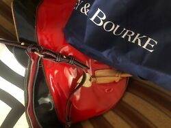 Lot of 2 Dooney Bourke Satchel Purses Red and black and white $269.00