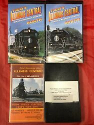 Illinois Central Train Vhs Videos Lot Of 4 Diesel And Steam Footage, Ic 150th Ann