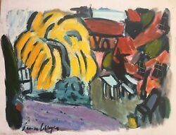 Jason Berger American Boston Expressionist Oil On Canvas Signed Listed