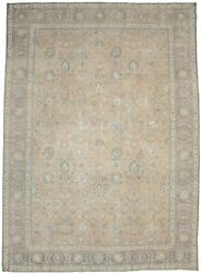 Antique Muted Rusty Peach Traditional 10x14 Distressed Oriental Rug Decor Carpet