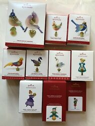 Hallmark Twelve 12 Days Of Christmas From 2013 To 2021 - 11 Ornaments Series Lot