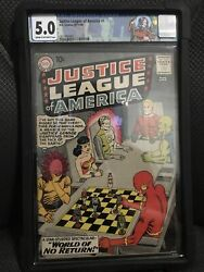 Justice League Of America 1 Cgc 5.0 Off White To White Iconic Book 🔥🔥