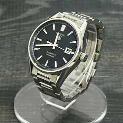 Tagheuer Carrera Calibre 5 S. Steel War211a-1 Automatic Men's Watch 16 Rise-on