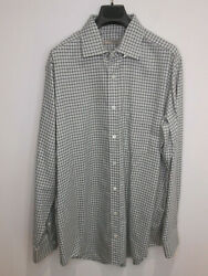 Bnwt Holland And Holland Pale Blue Cotton Check Shirt 17.5 New Rrp £270