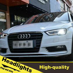 14-16 Led Turn Signal Dynamic Headlights Assembly For Audi A3 One Set.