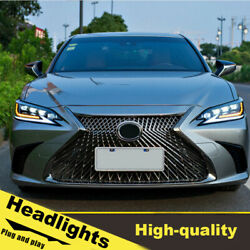 18-20 Led Turn Signal Dynamic Headlights Assembly For Lexus Es200 One Set.