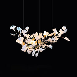 Modern Branches Chandelier With Porcelain Leaves Luxury Pendant Light