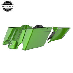 Radioactive Green Stretched Extend Saddlebags For 14+ Harley Flhr Flhxs Fltrx