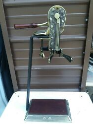 Vintage Lever Brass Finished Corkscrew Wine Opener 24 H Table Stand