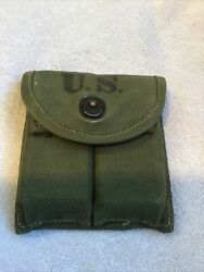 Wwii Us M-1 Carbine Pouch 1944- R. B. Hanson Mfg Co.with 2 Mags