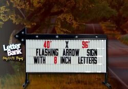 """40"""" X 96"""" A7s Colorful Arrow Portable Readerboard Sign, Lighted On Stands"""