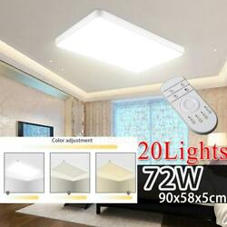 20x Dimmable 72w Led Ceiling Light Ultra Thin Flush Mount Kitchen Home Fixture
