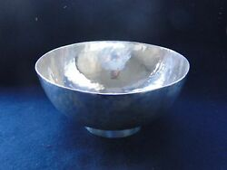 Hand Hammered Sterling Silver Dish London 1915 Early Arts And Crafts Art Deco