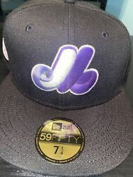 7 1/4 Montreal Expos Black 1982 All Star Game Purple Bottom Fitted Hat