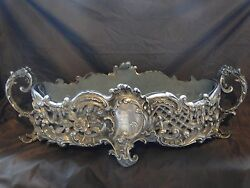 Small Sized Silver Plated Jardiniere French Antique 1850 Cast Design Top Quality