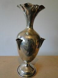Posey Vase. Sterling Silver 800 Italy Circa 1950 Marked Small Size Nice Shape