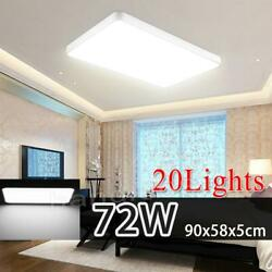 20x 72w Led Ceiling Light Cool White Ultra Thin Flush Mount Kitchen Home Fixture