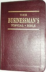 Businessman's Topical Bible By None Noted Excellent Condition