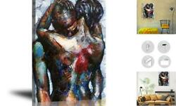 Abstract Wall Art African Artwork Canvas African American Oil Paintings Love
