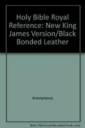 Holy Bible Royal Reference New King James Version/black By Not Available Vg+