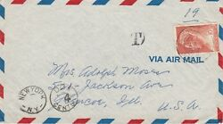 Curacao Postage Due Cover To Usa M/s Stella Polaris