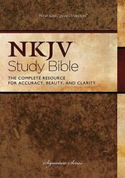 New King James Version Bonded Leather Study Bible By Thomas Nelson Publishers