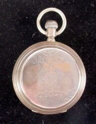 Antique .800 Silver LONGINES Hunting Case Pocket Watch Circa 1900 PARTS REPAIRS