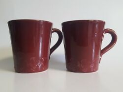 Walt Disney Parks And Resorts Coffee Cup Mug Rooster Cranberry Red Set Lot Big