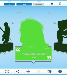Topps Disney Collect - Daily Disney July 27 - Pabbie Silhouette Digital
