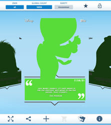 Topps Disney Collect - Daily Disney July 28 - The Peddler Silhouette