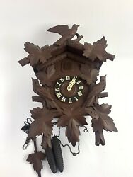 German Forest Cuckoo Clock W/ Weights And Pendulum- 12008