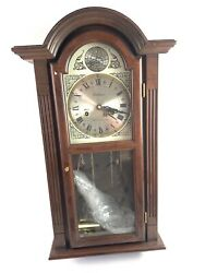 Waltham Tempus Fugit 31 Day Chiming Wall Clock With Key Working 28 Tall-11836