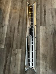 1962 Ford Fairlane 500 Trunk Rear Cove Trim Molding Fuel Door Stainless Panel 62
