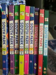 South Park Dvd Lot Of 9 Volumes 1-6+ Chef And Christmas Comedy Central