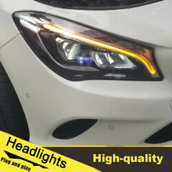 2014-2019 Led Turn Signal Dynamic Headlights Assembly For Benz Cla One Set.