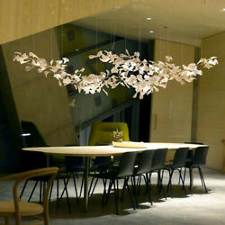 Luxury Branches Chandeliers Light With Porcelain Leaves Home Decor Hanging Lamp