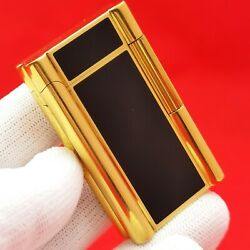 Rothschild - Swiss Made - Rare - Gold Pl. And Lack - Old Stock - Gas Lighter