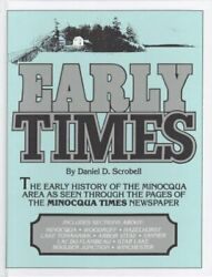 Early Times Early History Of Minocqua Area As Seen By Daniel D Scrobell Vg+